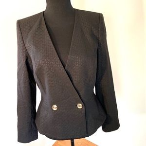 Peplum back black blazer sz 8